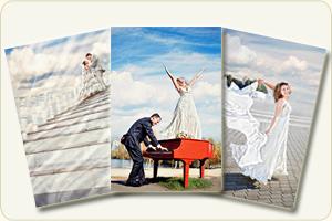 Творческая свадебная фотография